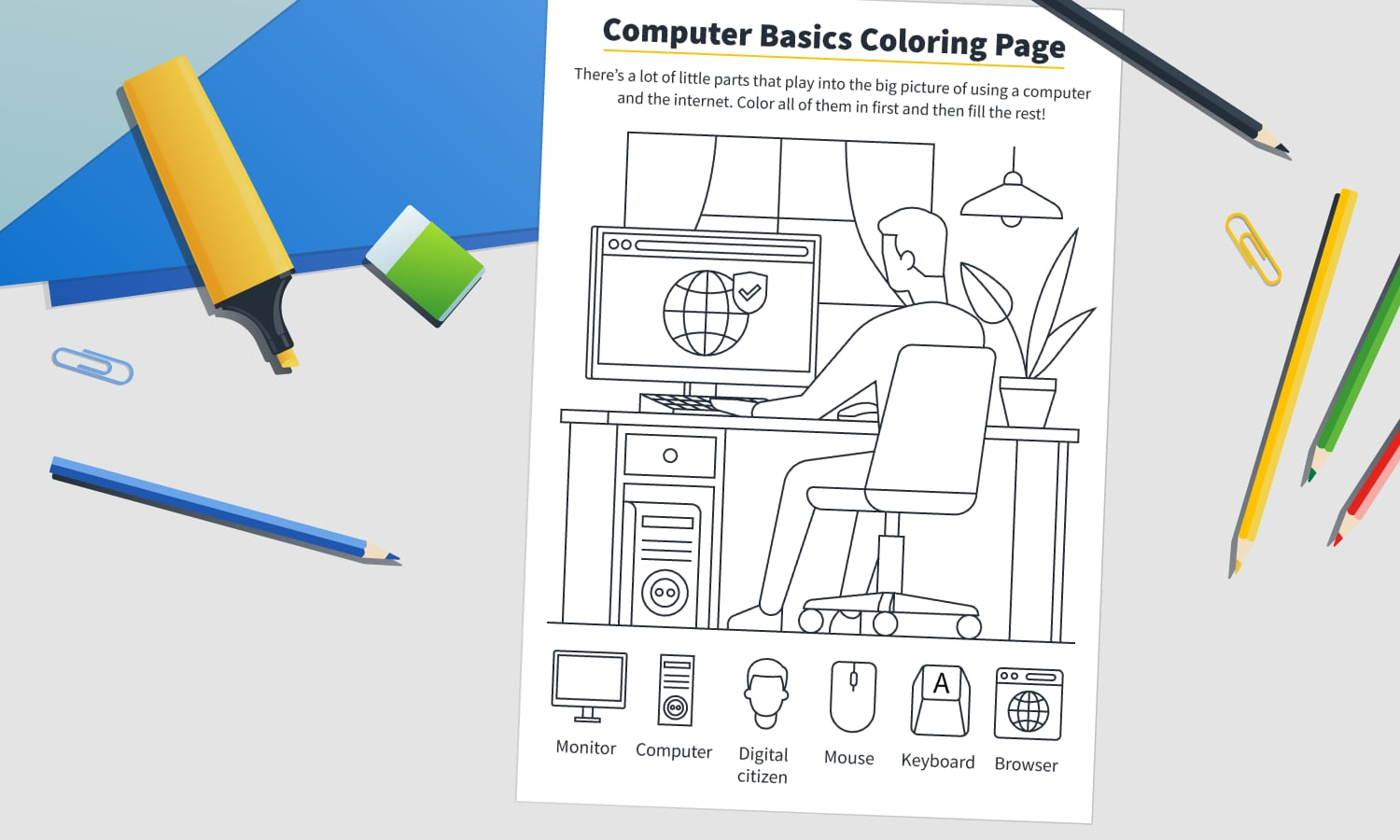printable digital citizenship coloring page