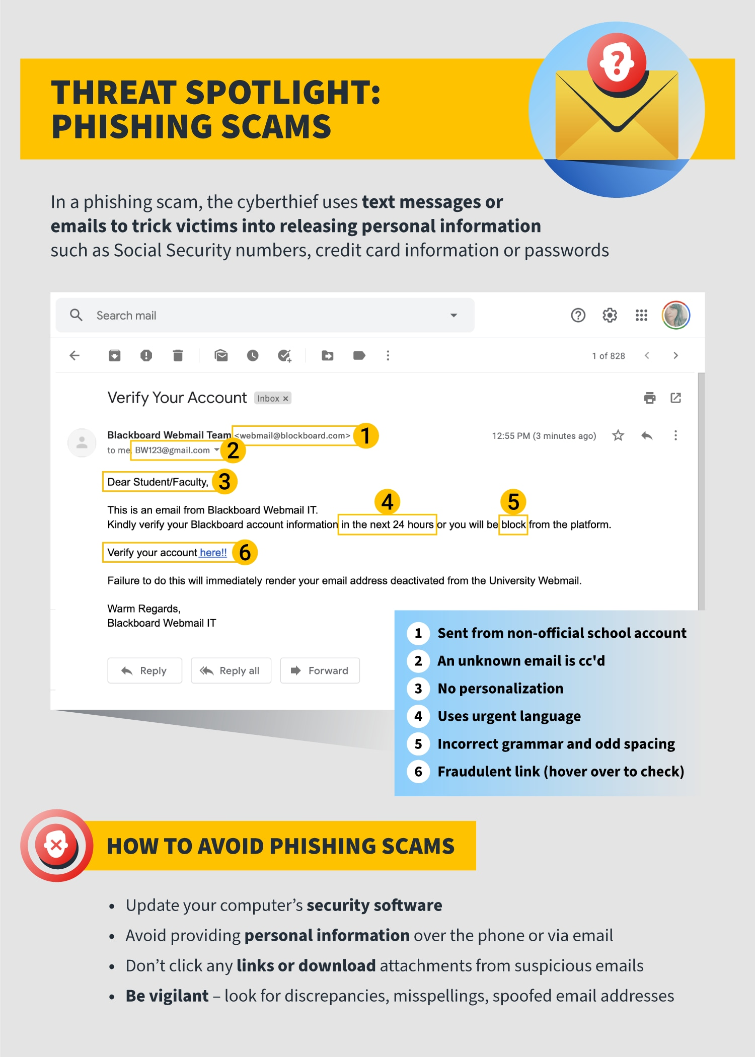 infographic on phishing scams